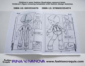Fashion design illustration. Childrenswear.