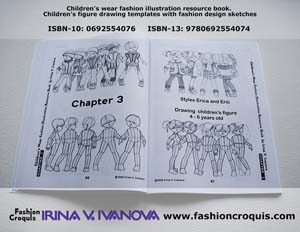 Fashion illustration templates.