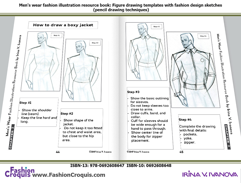How to draw a jacket.