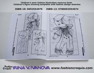 Fashion illustration. Childrenswear.