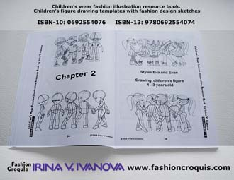 Fashion croquis. Children�s figure drawing.
