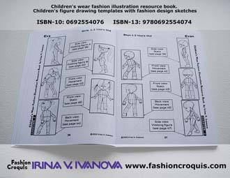 Fashion illustration templates. Children. Three years old.
