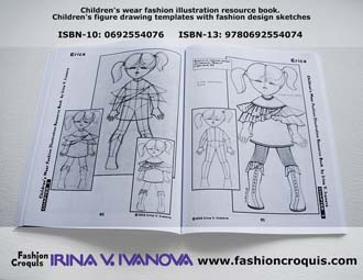 Childrenswear. Fashion design sketch.