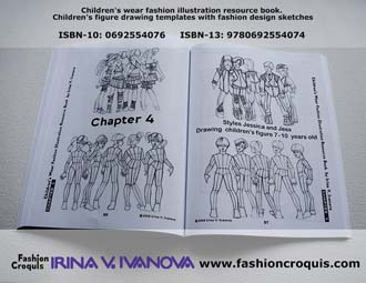 Fashion figure drawing. Children.