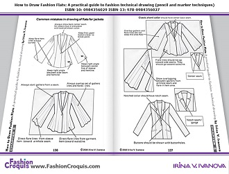 Common mistakes in drawing of flats for jackets.