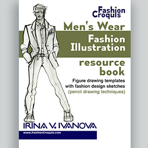 Men S Figure Drawing Templates With Fashion Design Sketches Pencil