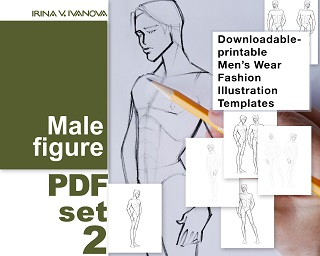 picture about Printable Fashion Croquis titled Downloadable, printable determine template for design drawing.