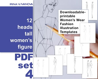 Downloadable Printable Figure Template For Fashion Drawing